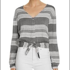 Anthropologie Bella Dahl Tie Waist Cropped Top